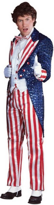 Adult Sequin Uncle Sam Costume