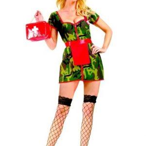 Adult Sexy Army Nurse Costume
