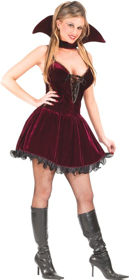 Adult Sexy Plum Vampire Costume