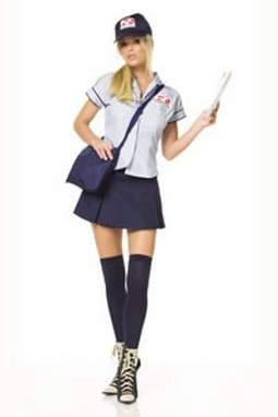 Adult Sexy Postal Worker Costume