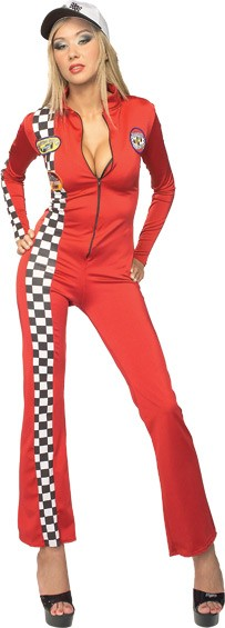 Adult Sexy Red Racer Costume
