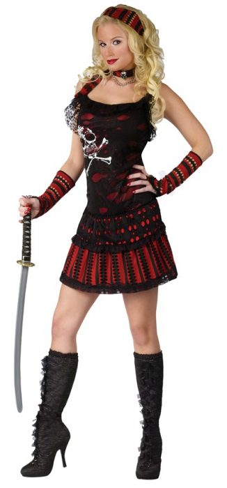 Adult Sexy Skull Rocker Pirate Costume
