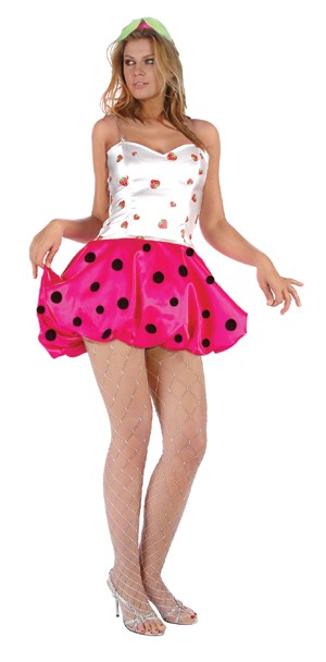 Adult Sexy Strawberry Cake Costume