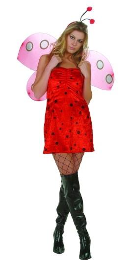 Adult Sexy Velvet Ladybug Costume