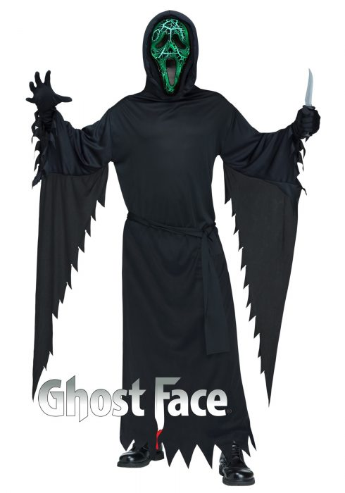 Adult Smoldering Ghost Face Costume