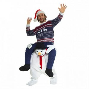 Adult Snowman Piggyback Costume