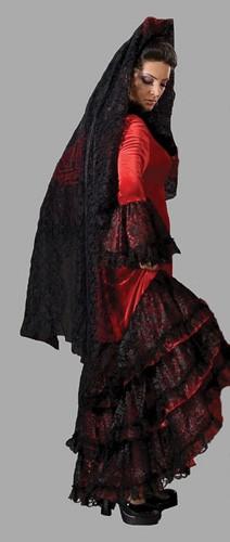Adult Spanish Dancer Costume ? Red