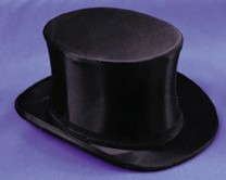 Adult Special Order Collapsible Black Top Hat