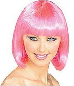 Adult Super Model Hot Pink Wig