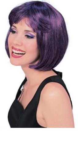 Adult Super Model Purple/Black Wig