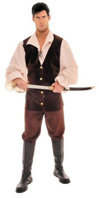 Adult Tan Brown Buccaneer Costume