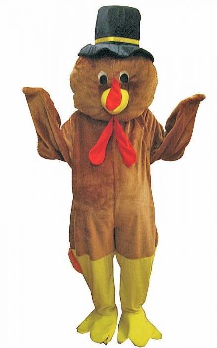 Adult Thanksgiving Turkey Mascot