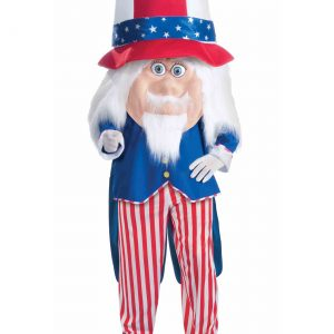 Adult Uncle Sam Parade Mascot Costume