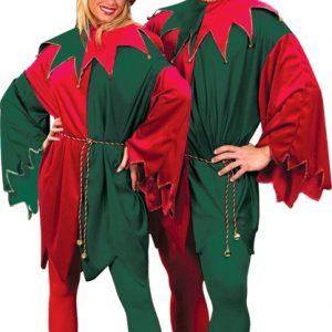 Adult Velvet Santa's Elf Costume