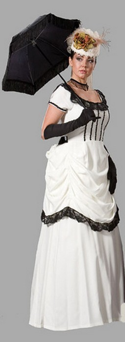 Adult Victorian Dress Costume Cream
