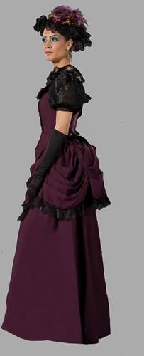 Adult Victorian Dress Costume Purple