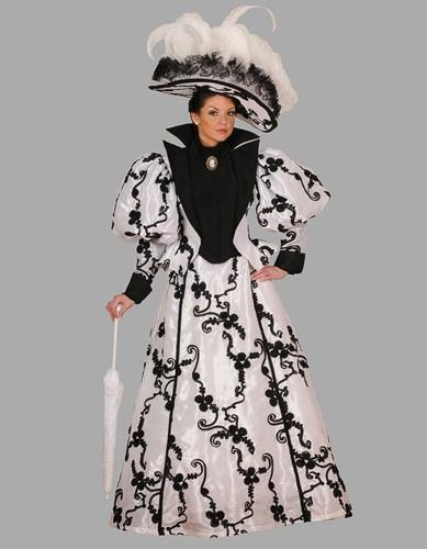 Adult Victorian Dress Costume ? White/Black