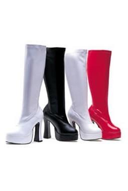 Adult White Cha Cha Boots