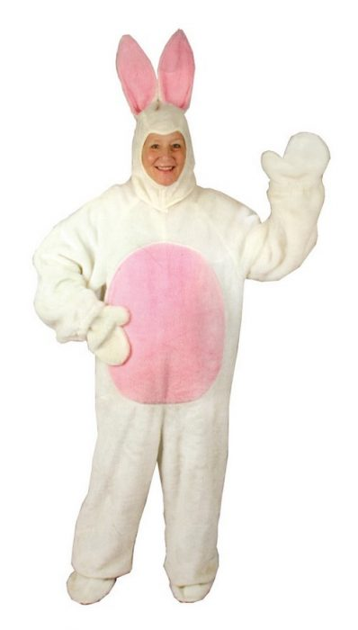 Adult White Female Bunny Costume