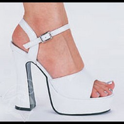 Adult White Leather Platform Shoes