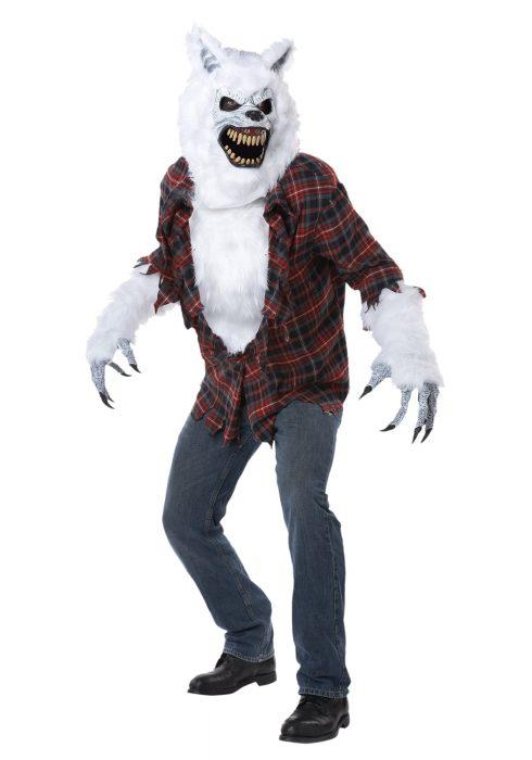 Adult White Lycan Werewolf Costume