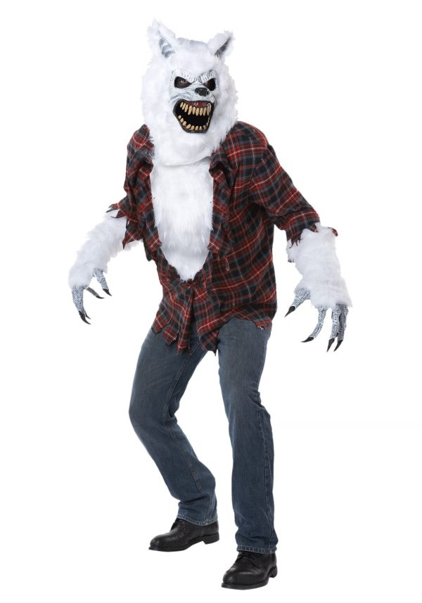 Adult White Lycan Werewolf Costume