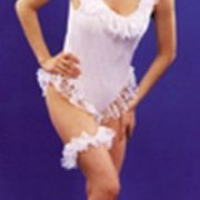 Adult White Sexy Evening Lace Costume
