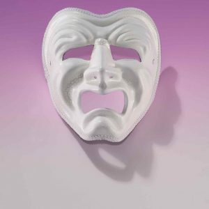 Adult White Tragedy Mask