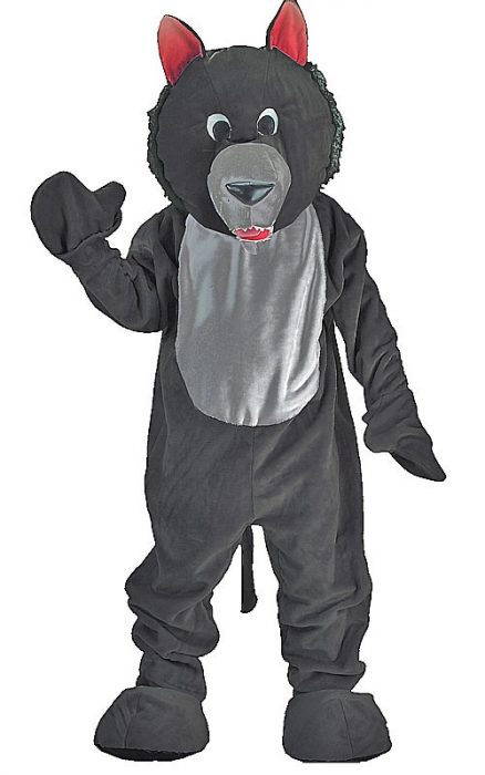 Adult Wolf Mascot