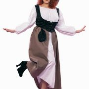 Adult Woman's Plus Size Deluxe Renaissance Peasant Costume
