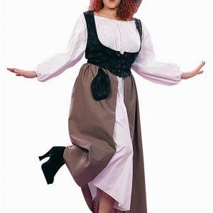 Adult Woman's Plus Size Deluxe Renaissance Peasant Costume