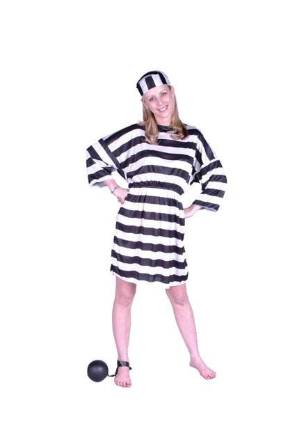 Adult Woman's Prisoner Costume