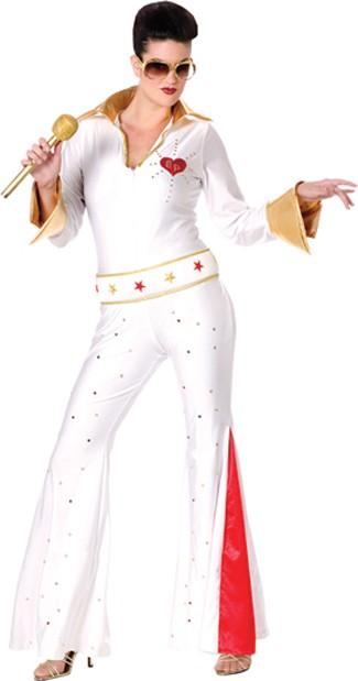 Adult Women's Elvis Jumpsuit Costume