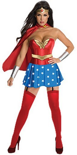 Adult Wonder Woman Corset Costume
