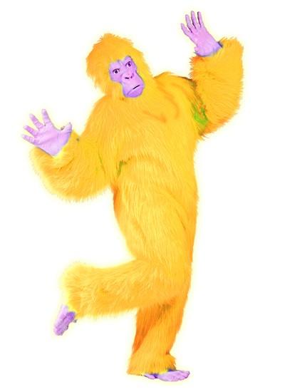 Adult Yellow Gorilla Costume