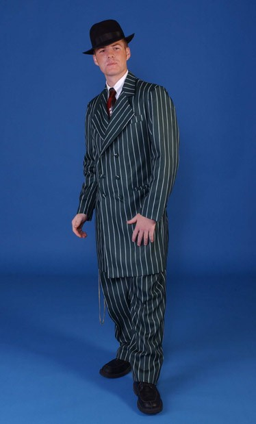 Adult Zoot Suit - Blue and White