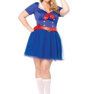 Ahoy There Honey Women's Plus Size Sailor Costume