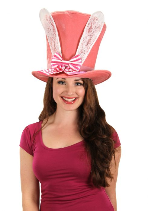 Alice in Wonderland Bunny Ears Mad Hatter Hat