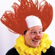 American Red Clown Wig