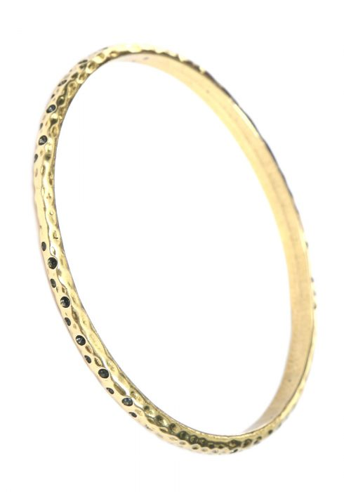 Antique Gold Hammered/Textured Bangle Bracelet
