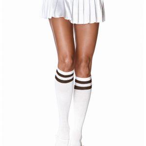 Athletic Knee High Stockings White/Black