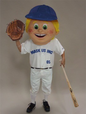 Baseball Kid Mascot Head