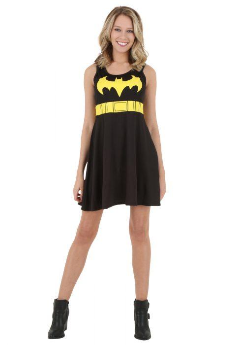 Batman Logo A-Line Black Dress