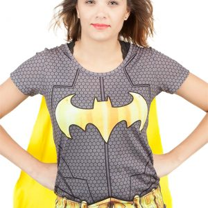 Batman Suit Up Womens Sublimated Caped Tee