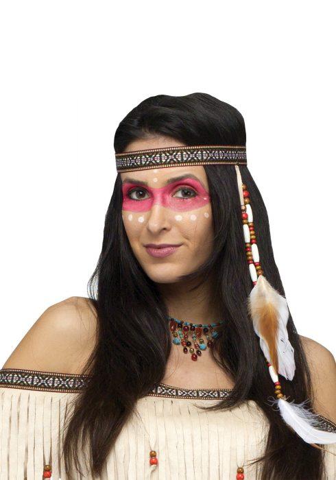 Bead And Feather Native American Headband
