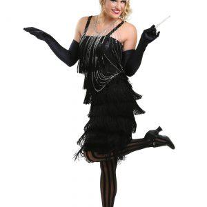 Black Charleston Flapper Dress