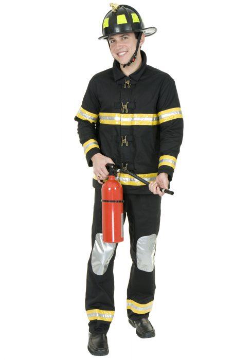 Black Fireman Costume