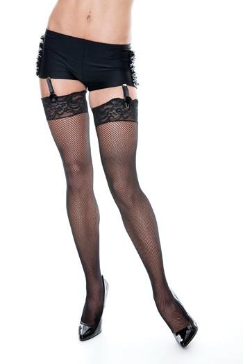 Black Hotpants w/ Fishnets