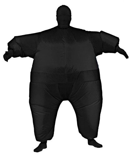 Black Inflatable Skin Suit Costume