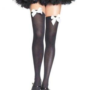Black Stockings with White Bows